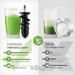 Homever Slow Masticating Juicer Extractor Cold Press Juicer All Fruit & Veggies