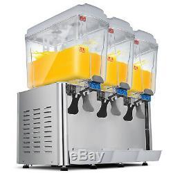 Hot and Cold! Drink Juice Beverage Dispenser Fruit Juicer Three Tanks 54L