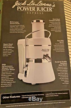 Jack LaLanne Power Juicer Express in White with crome accents. 250 WATT 3600 RPM