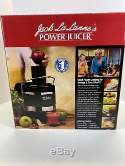 Jack LaLanne's Power Juicer Extractor Fruit Vegetable Juice Black Works Great