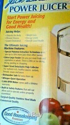 Jack Lalanne Ultimate Power Juicer 250 WATT POWERFUL CITRUS & Vegetable JUICER