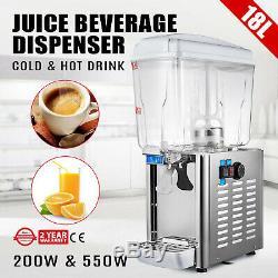 Juice Beverage Dispenser 18L Cold/Hot Drink Fruit Bubbler Juicer 4.75Gal