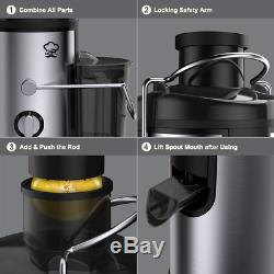 Juice Extractor, 400W Stainless Steel Juicer for Fruit & Vegetable, Wide
