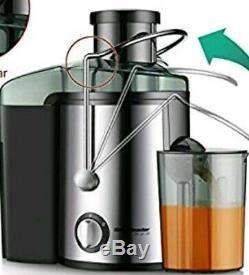 Juicer Juice Extractor, Homeleader Stainless Steel Centrifugal Juicer BPA-FREE