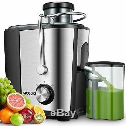 Juicer Machine, Aicook 600W Wide Mouth Juice Extractor Juicers for Whole Fruit
