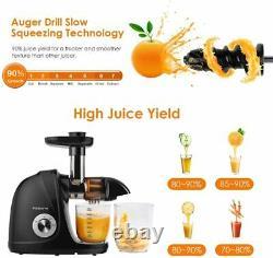 Juicer Machine Anti Clogging Masticating Juice Maker Slow Press Cold Extractor