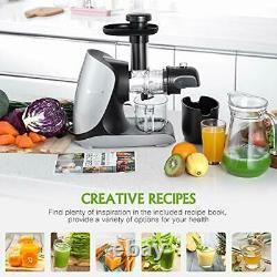 Juicer Machine, MEOMY Slow Masticating Juicer with Ceramic Auger, 2-Modes High