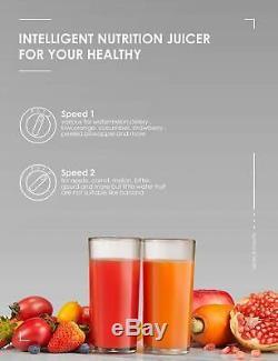 Juicer Machine Whole Fruit Squeeze Large Feeding Tube Juice Extractor Fruit