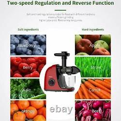Juicer Machines, Jocuu Slow Masticating Juicer Extractor, Cold Press Juicer with