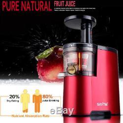 Juicer Slow Masticating Fruit Vegetable Machine Cold Press Juice Extractor 220V