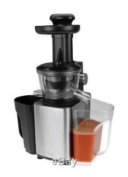 Kalorik Stainless Steel Slow Juicer, Fruit and Vegetable Juice Extractor Black