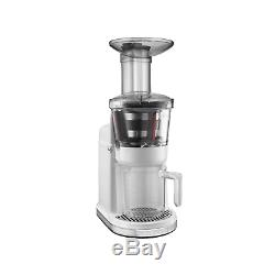 KitchenAid Health Electric Juicer Easy Fruit Juice Extractor, White (2 Pack)