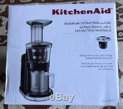 KitchenAid Maximum Slow Health Electric Juicer Easy Fruit Juice Extractor Black