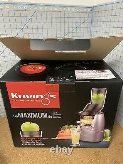 Kuvings Whole Slow Juicer B6000S Higher Nutrients and Vitamins BPA-Free Com