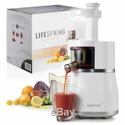 LifeSpring Slow Juicer Cold Press Safe No Blades Juice Fruits Vegetable Healthy
