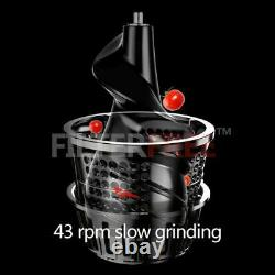 MIUI Slow juicer 7Lv Cold press extractor FilterFree patente Easy Clean 43rpm
