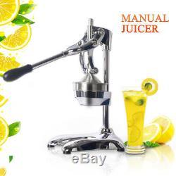 Manual Hand Press Juicer Squeezer Fruit Juice Extractor Stainless Steel