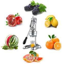 Manual Hand Press Juicers Stainless Steel Squeezer Citrus Fruit Juice Extractor
