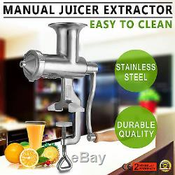 Manual Juicer Wheat Grass Fruit Vegetable Juice Extractor Machine Stainless