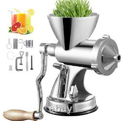 Manual Wheatgrass Juicer Extractor Wheat Grass Grinder with Suction Cup Base