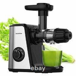 Masticating Fruit & Vegetable Juicer Machine Electric Juice Extractor Cold Press