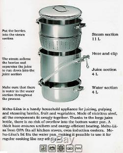 Mehu-Liisa 11 Litre Stainless Steel Steam Juicer NEW MHL11, StainlessSteel