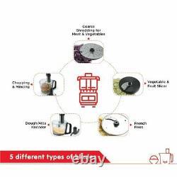 Morphy Richards Icon Superb 1000-Watt Food Processor(Glazing)With Universal Plug
