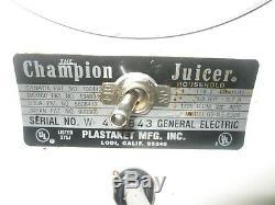 NEW Champion Juicer 2000G 5-NG-853S Masticating Extractor Juicer Machine Kitchen
