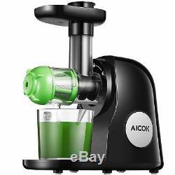 NEW Juicer Masticating Slow Juicer Extractor, Aicok Juice Quiet Motor Reverse