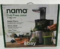 NEW Nama Vitality 5800 EXTRACTION Cold Press Juicer machine Fruit Vegetable FAST