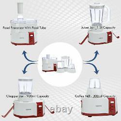 New 4 In 1 Food Processor Blender Chopper Grinder Mixer Juicer Smoothie Maker UK