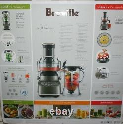 New Breville BJB615SHY1BUS1 the 3x Bluicer plus Juice Extractor Blender Silver