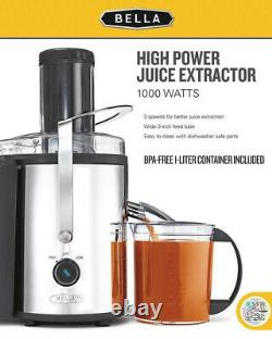 New Juice Extractor Machine 1000 Watt Electric Juicer Fruit Citrus Squeezer NEW