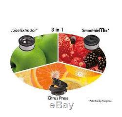 New Magimix Le Duo Plus Black Smoothies Juicer Juice Fruits Vegetables Kitchen