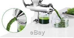 New Manual Wheatgrass Juicer Auger Slow Squeezer Fruit Vegetable Juice Extractor