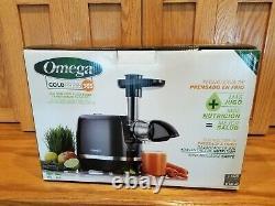 New Omega H3000D Cold Press 365 Horizontal Juicer Black