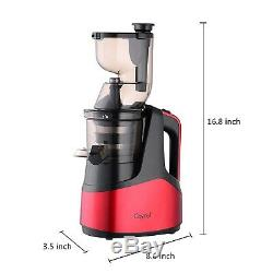New Slow Masticating Juicer Cold Press Extractor Fruit Vegetable Red