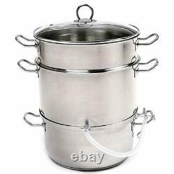 Norpro 619 Stainless Steel Steamer/Juicer, One Size, without Canning Kit