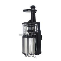 NutriChef Stainless Steel Slow Juicer Healthy Fruit & Vegetable Juice Extractor