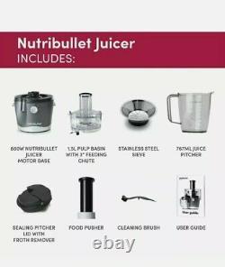 Nutribullet Juicer Grey