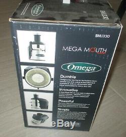 OMEGA BMJ330 MEGA MOUTH JUICER Fruit & Vegetable Juice Maker Blender BRAND NEW