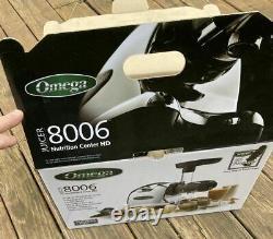OMEGA J8006HDC Chrome Dual-Stage Slow Masticating Juicer BPA-Free Open Box