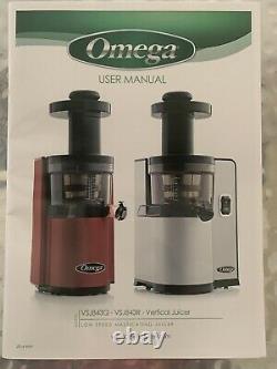 OMEGA VSJ843QS JUICE EXTRACTOR Masticating Juicer