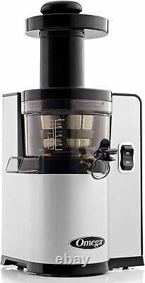 OMEGA Vertical Slow Masticating Silver Juicer VSJ843QS
