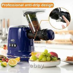 ORFELD Juicer Slow Masticating Juicer Extractor Cold Press for Vegetable & Fruit