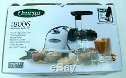 Omega 8006 Ultimate Nutrition System Juicer Fruit Heavy Duty New In Box Mincing7