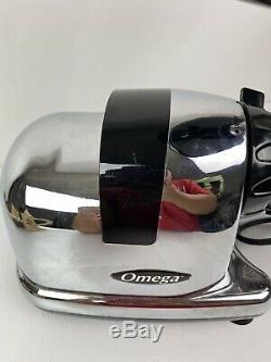 Omega 8008 Chrome Multi Purpose Juicer Food Processor j8008hdc