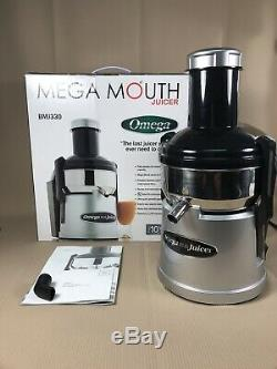Omega Bmj330 Stainless Steel Pulp-ejector Juicer With Mega Mouth