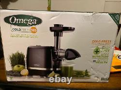 Omega H3000D COLD PRESS 365 JUICER Slow Masticating Extractor Black NEW IN BOX