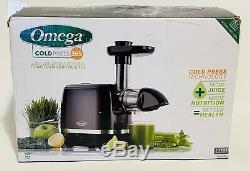 Omega H3000D Cold Press 365 Juicer Slow Masticating Extractor Juicer, 150-Watt
